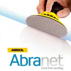 Abranet slipmaterial rondell 125 mm 320 grit