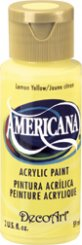 Lemon Yellow Americana Acrylics