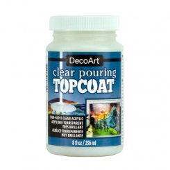 Ytbehandling för pouring medium. Clear Pouring Topcoat DecoArt