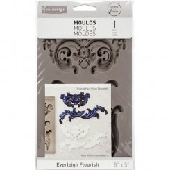 Everleigh Flourish Dekor-gjutform gjut ornament.