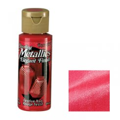Festive red - Dazzling Metallics DecoArt