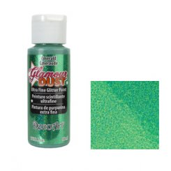 Glamour dust, ultra fine glitter paint -  decoart - emerald