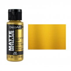 Matte Metallic Gold DMMT02 DecoArt