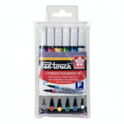 6-pack, Sakura, Pen-Touch, Paint Marker, Fine
