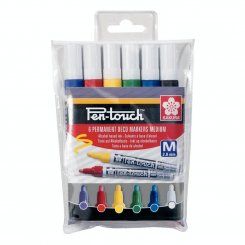 6-pack, Sakura, Pen-Touch, Paint Marker, Medium, Wallet