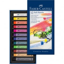 Mjukpastell 12 st Faber-Castell