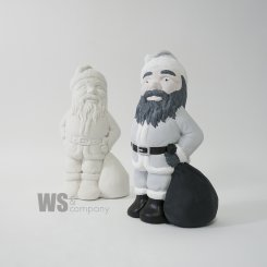 Traditionell tomte med säck latexform
