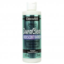DuraClear Iridescent Varnish Turquoise DecoArt