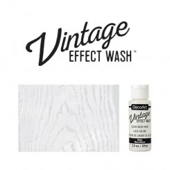 White vintage effect wash DecoArt