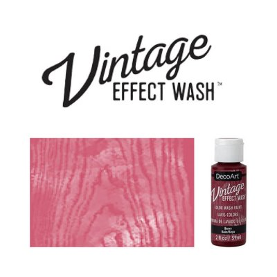 Berry vintage effect wash DecoArt