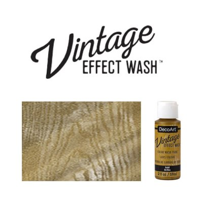 Gold vintage effect wash DecoArt