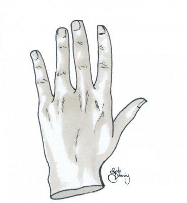 få bort silikon från händerna