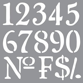 Schablon Olde world numbers