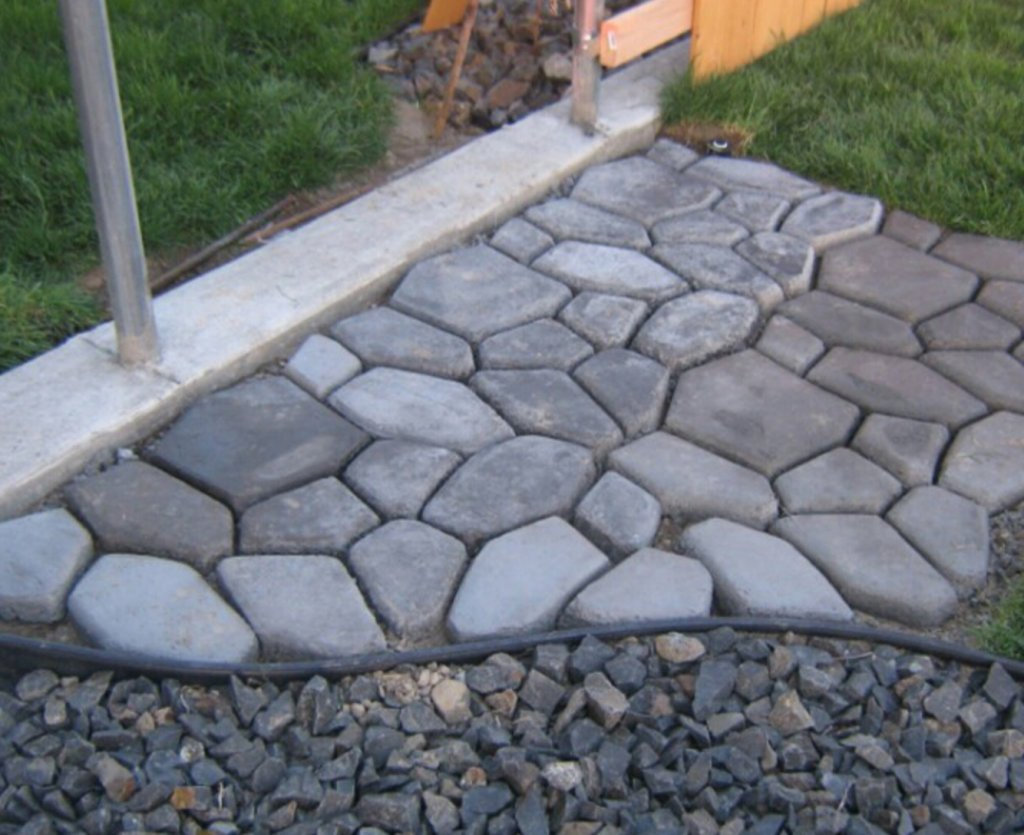 gjutformar betong trädgård